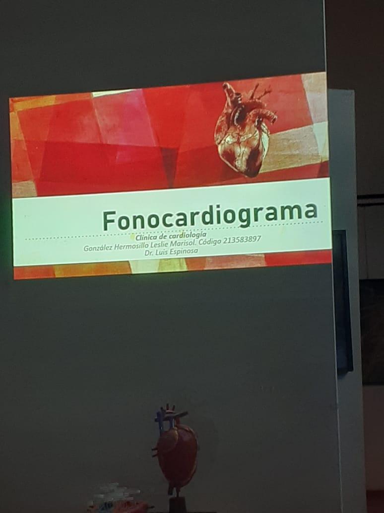 Diapositiva con el título Fono-cardiograma