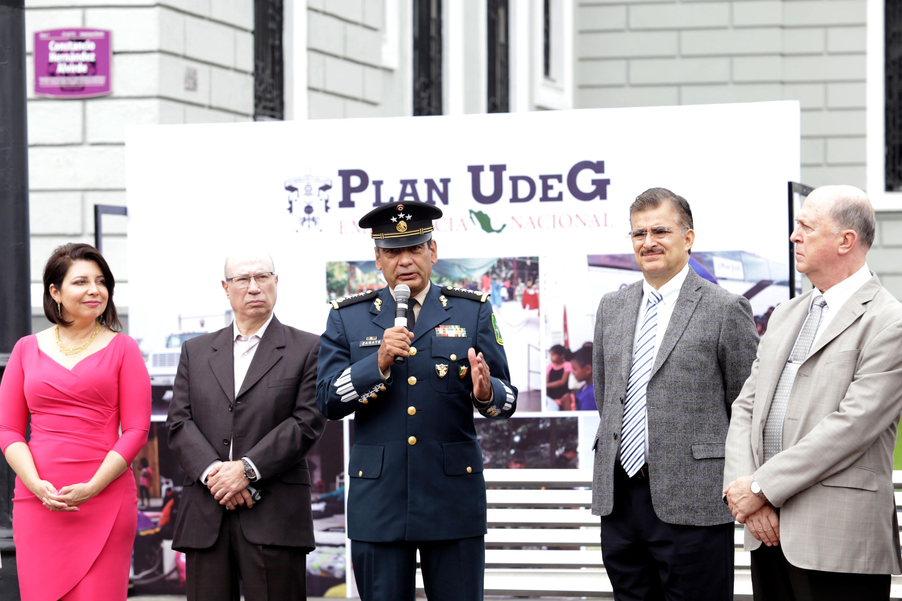 Habla el General Eduardo Zárate Landero. Destacó la solidaridad de la UdeG