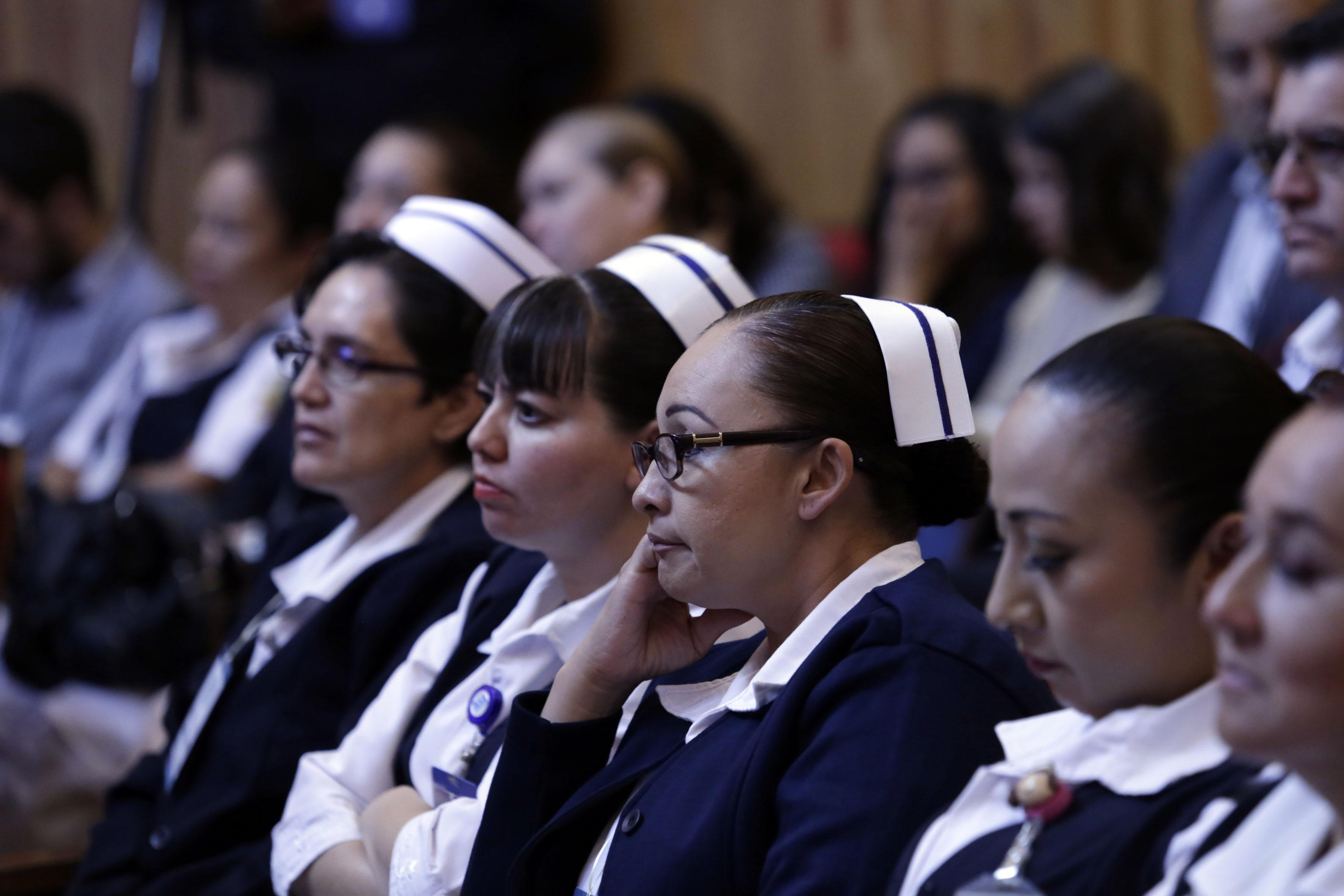 Enfermeras en el auditorio