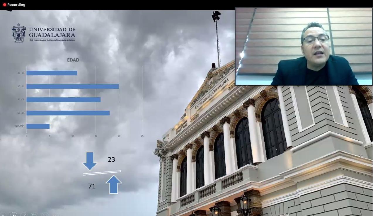 Diapositiva de la presentación del Dr. Arturo González Lozano