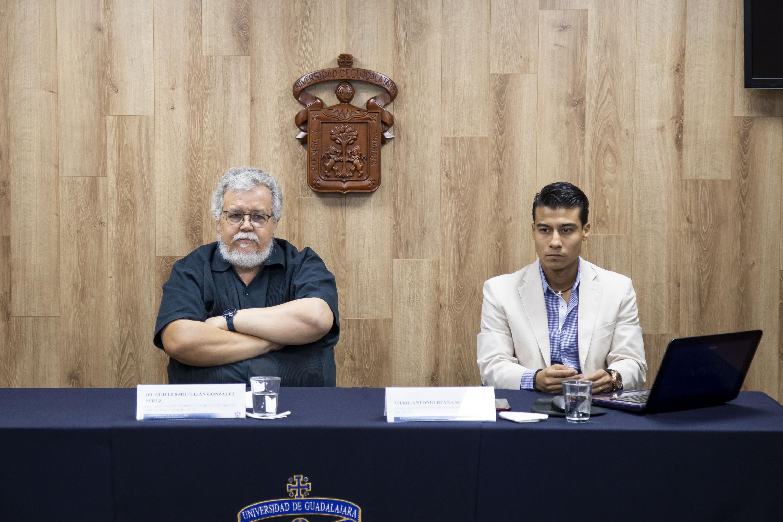 Miembros del presídum en la rueda de prensa