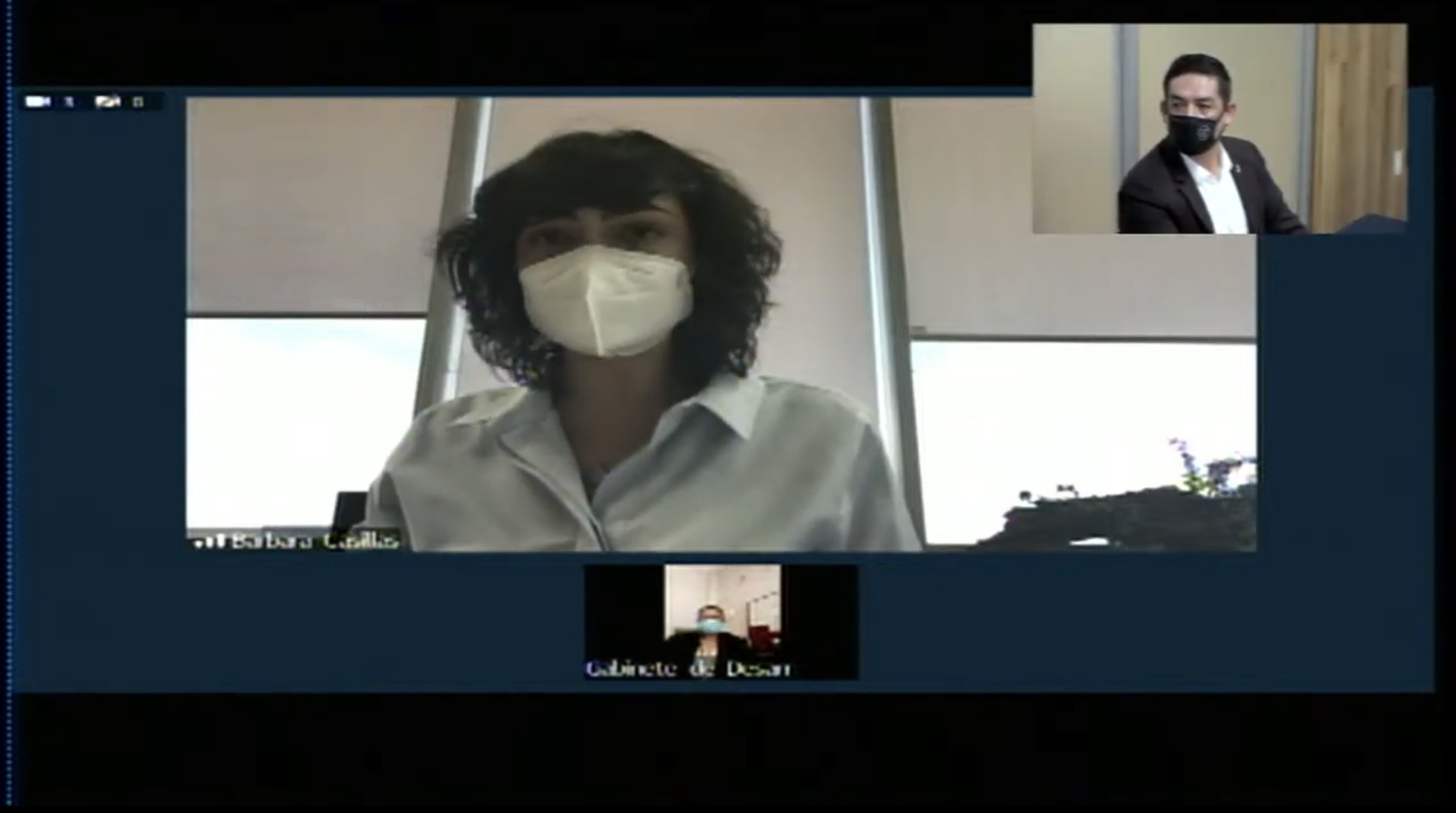 Participante virtual en la rueda de prensa