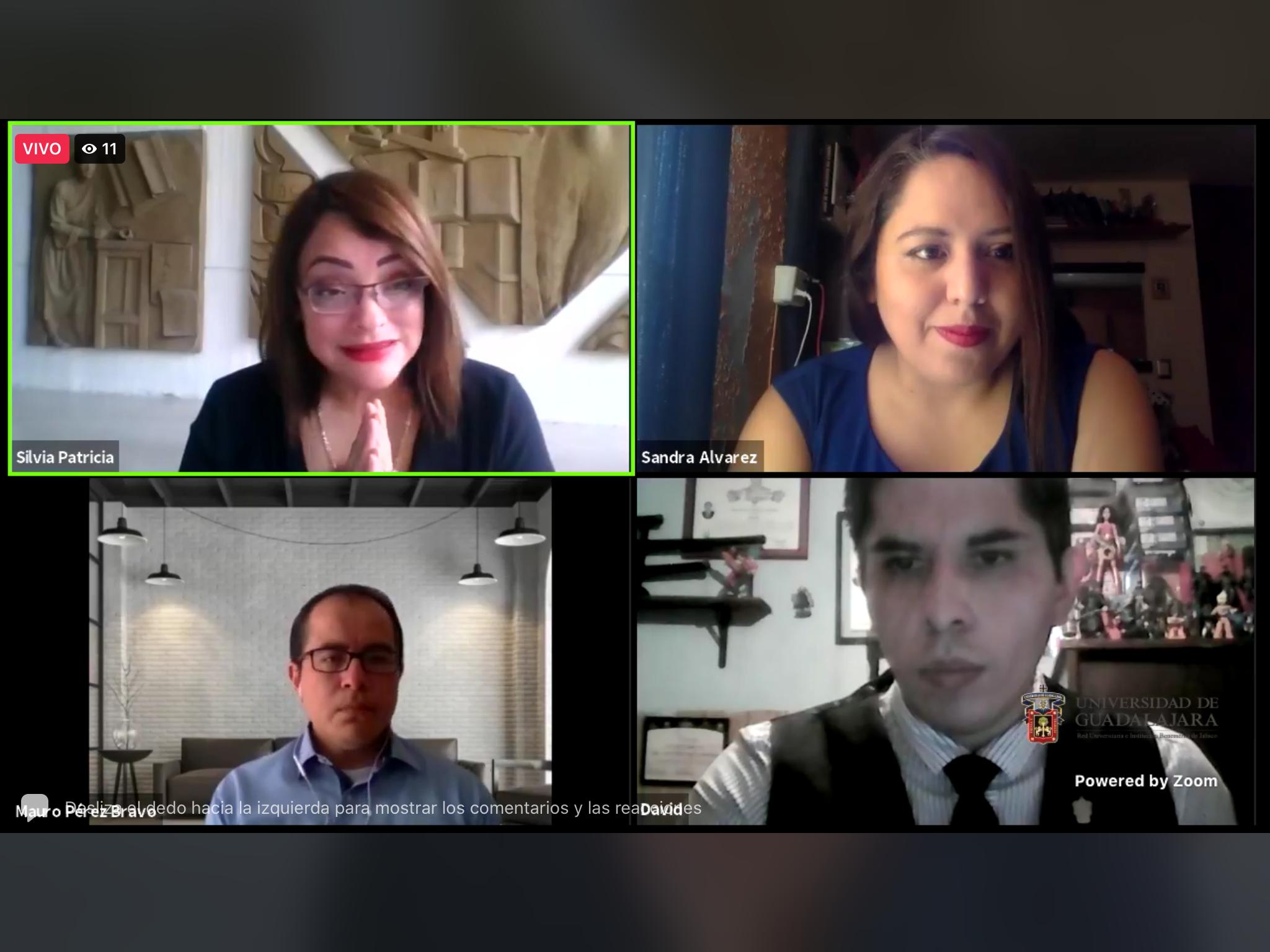 Captura de pantalla donde aparecen todos los ponentes del evento