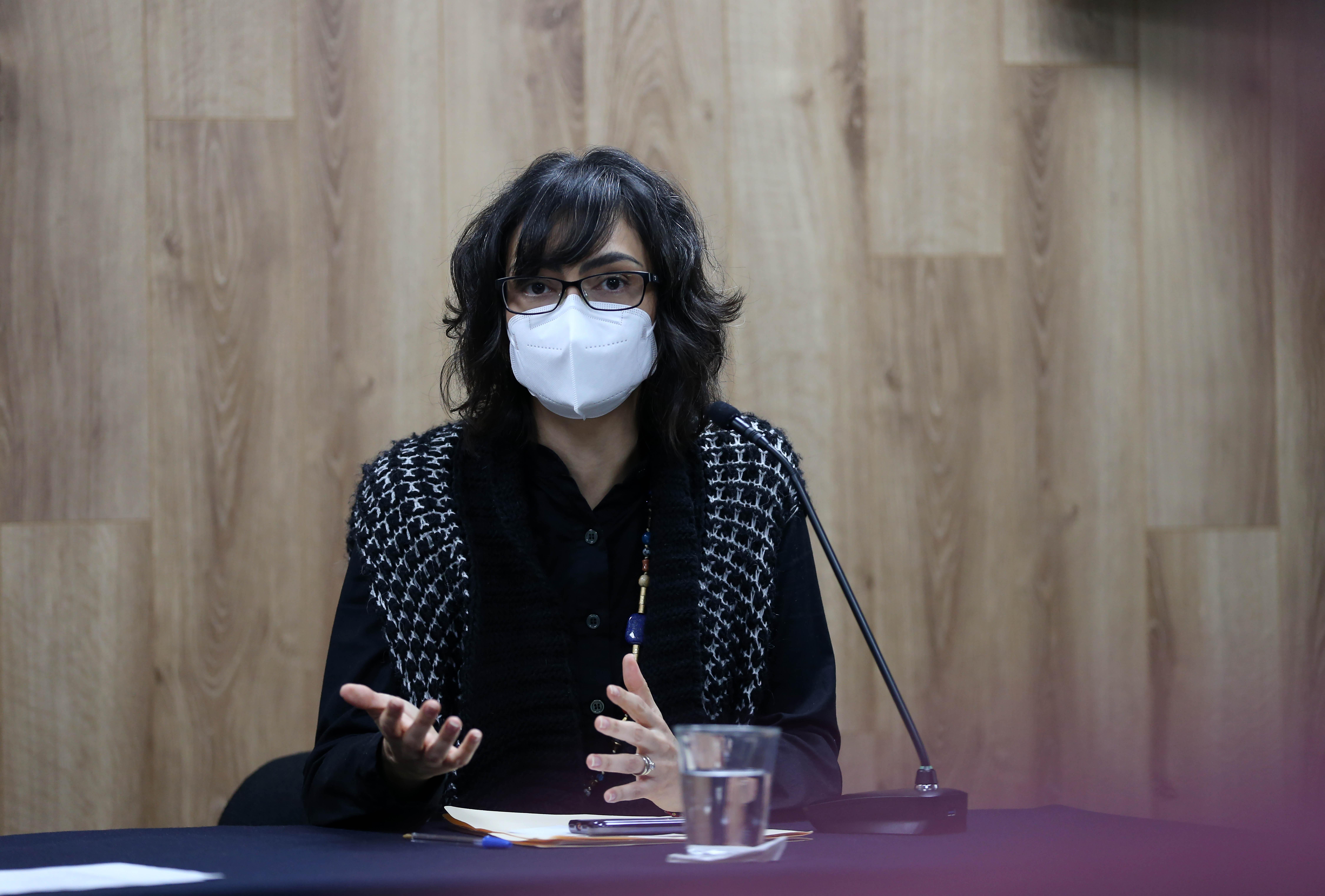 Bárbara Casillas en rueda de prensa