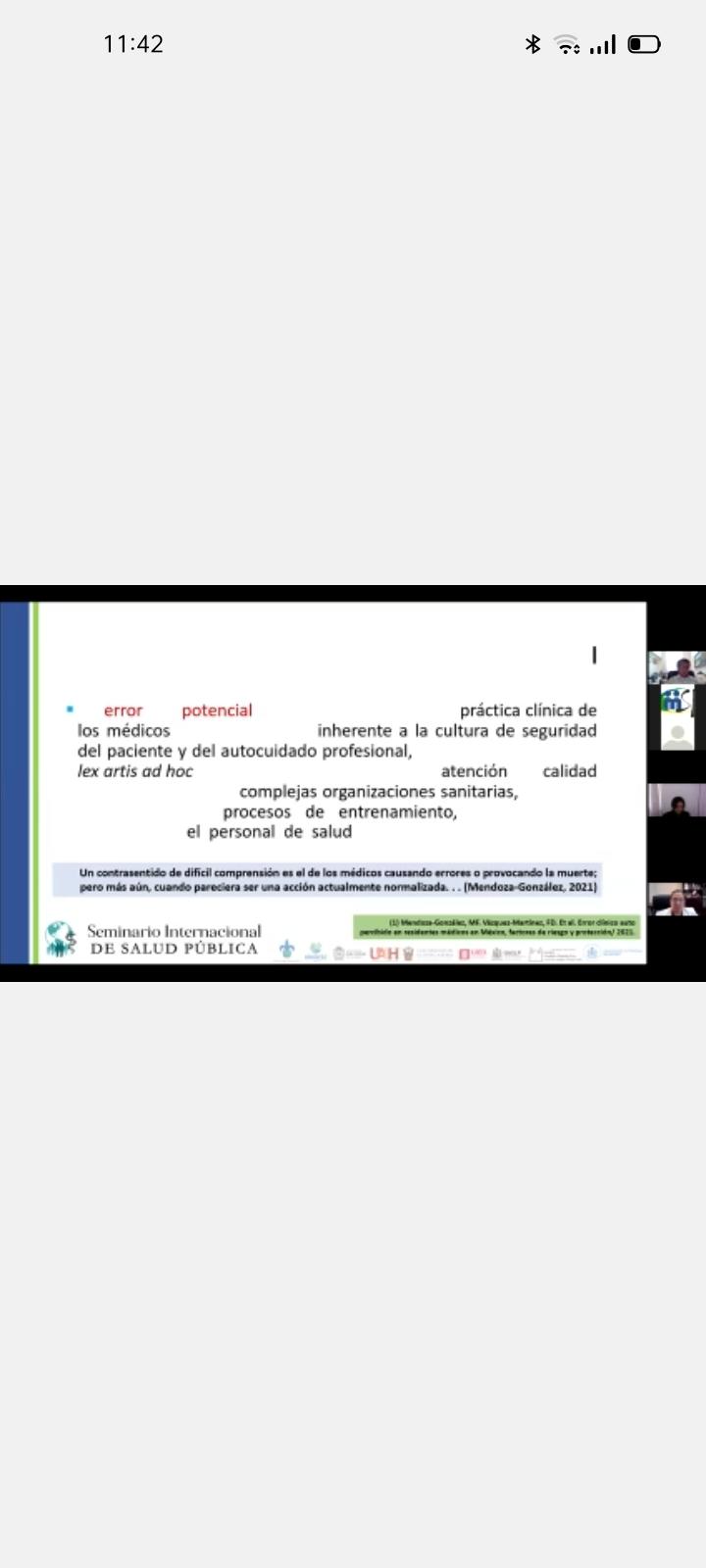 Diapositiva que describre el error potencial