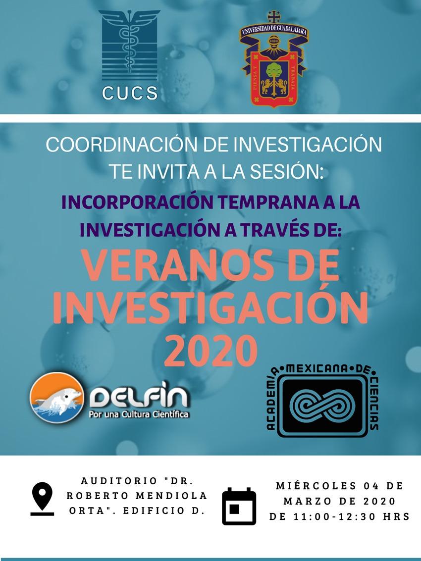 Cartel promocional de la sesión informativa