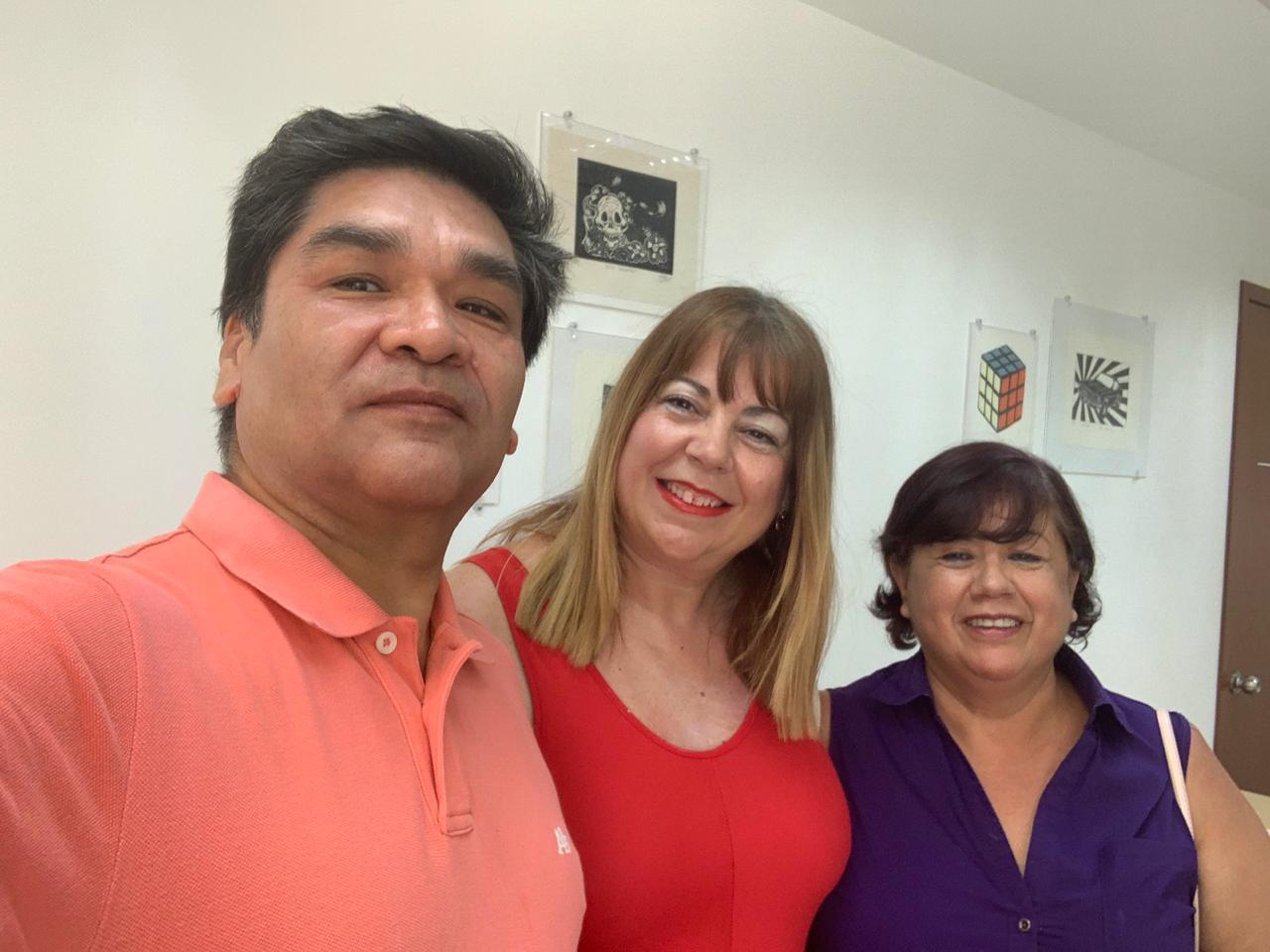 Jefe de Departamento de Psicología Básica, Dra. Serafina Castro y Dra. Lolita Valadez