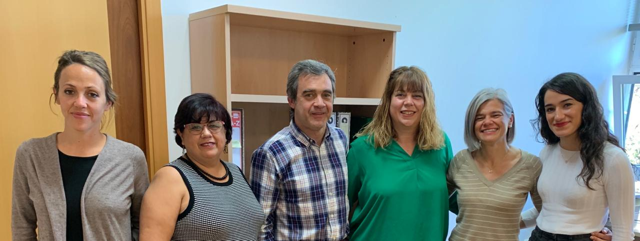 Equipo de Internacionalización de la Universidad de Málaga. Aparece la Dra. Lolita Valdez