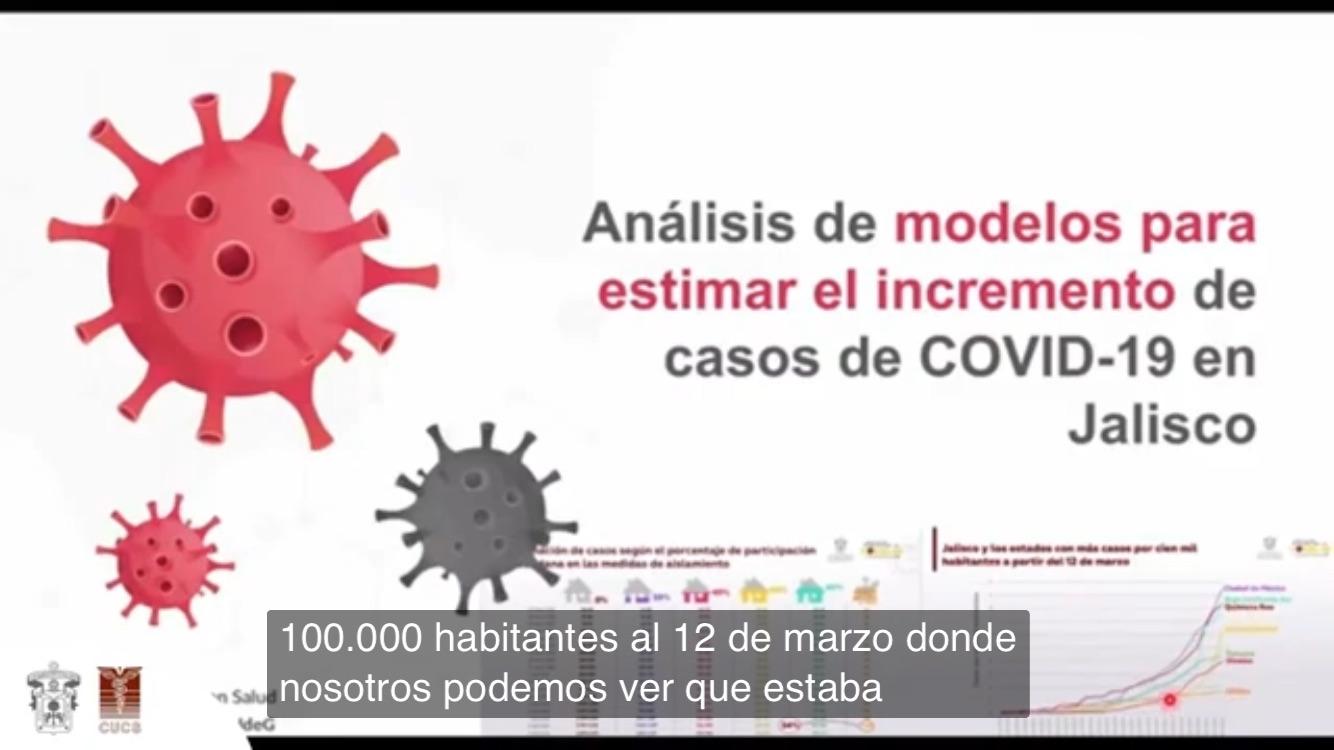 Diapositiva utilizada en la conferencia