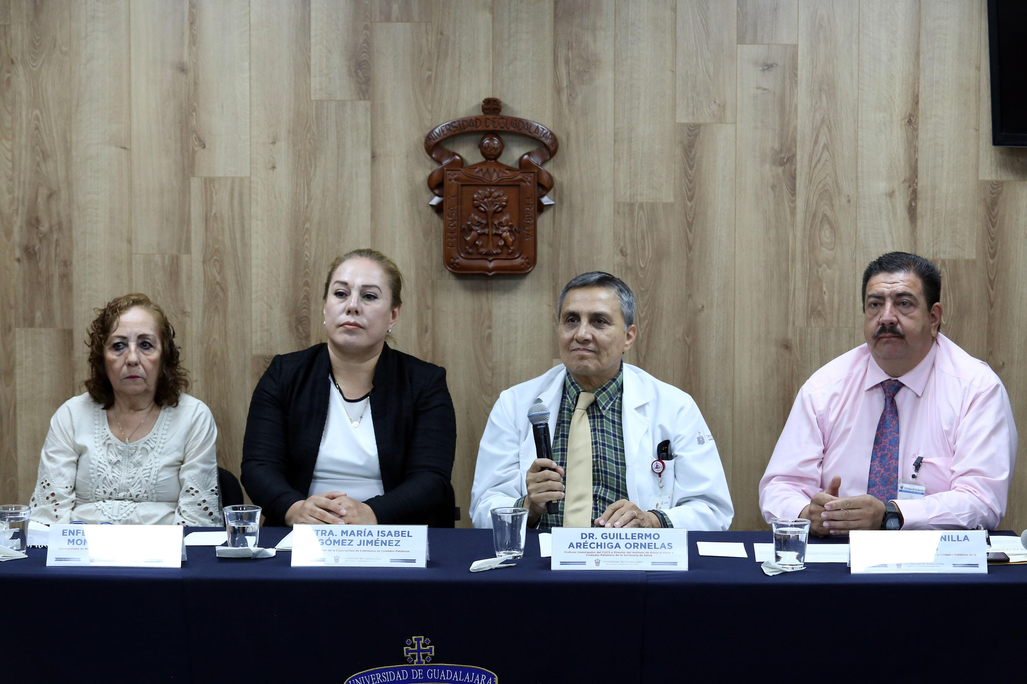 Integrantes del presídium en la rueda de prensa