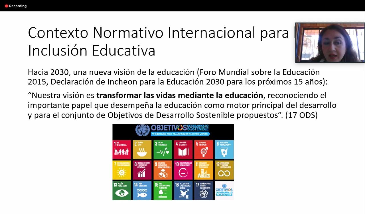 Captura de pantalla de diapositiva expuesta durante la conferencia