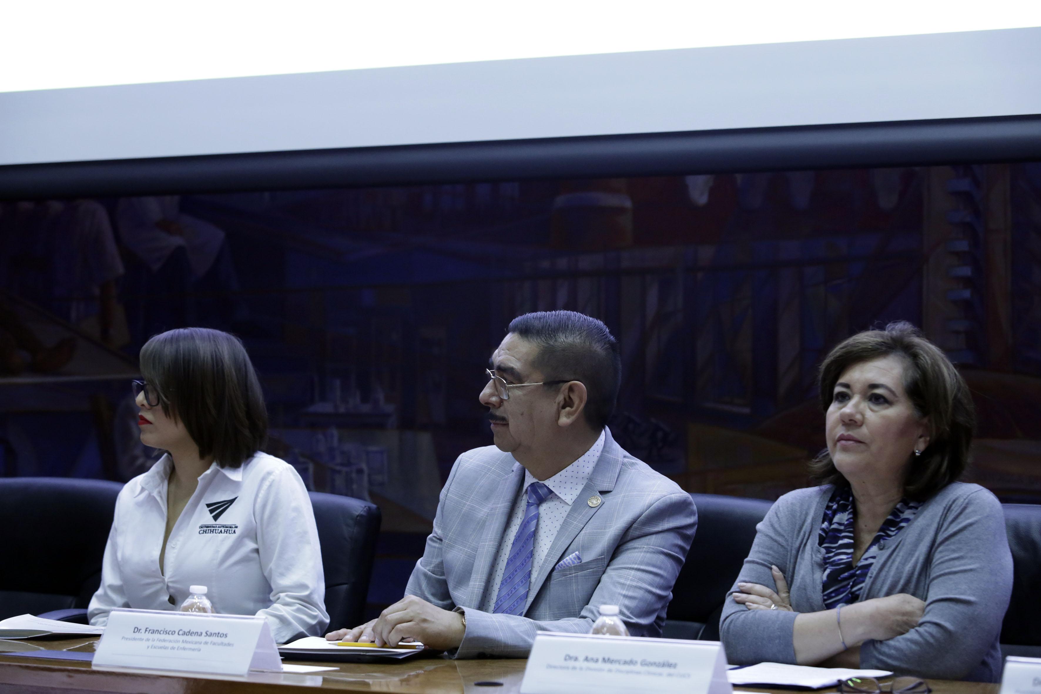 Dra. Ana Mercado en el presídium