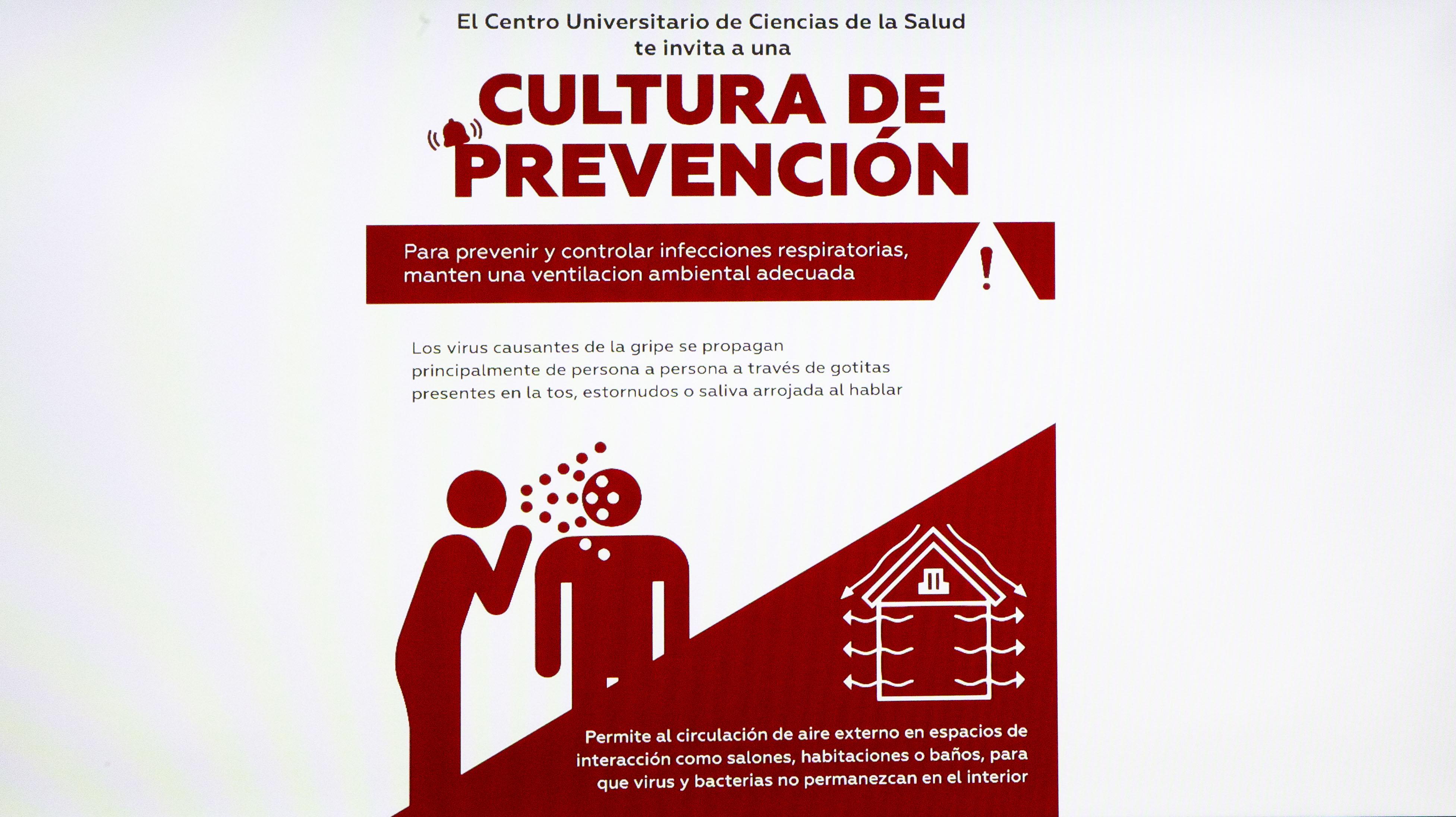 Cartel promocional con medidas preventivas