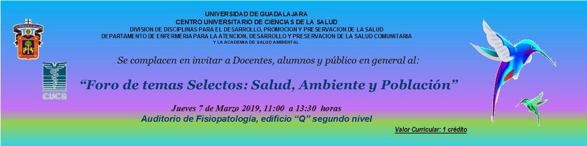 Banner publicitario Foro Salud Ambiental