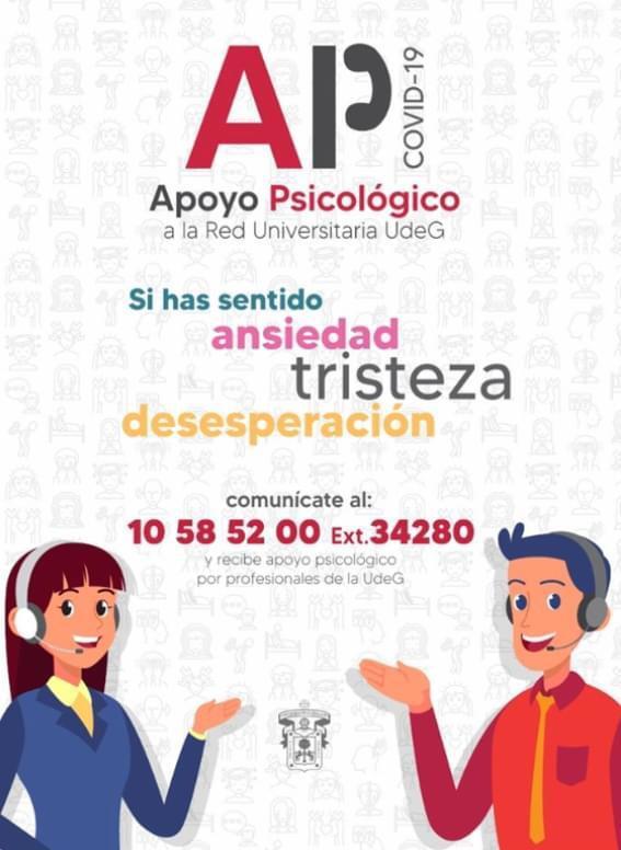 Banner promocional del servicio de Apoyo Piscologico ansiedad y tristeza