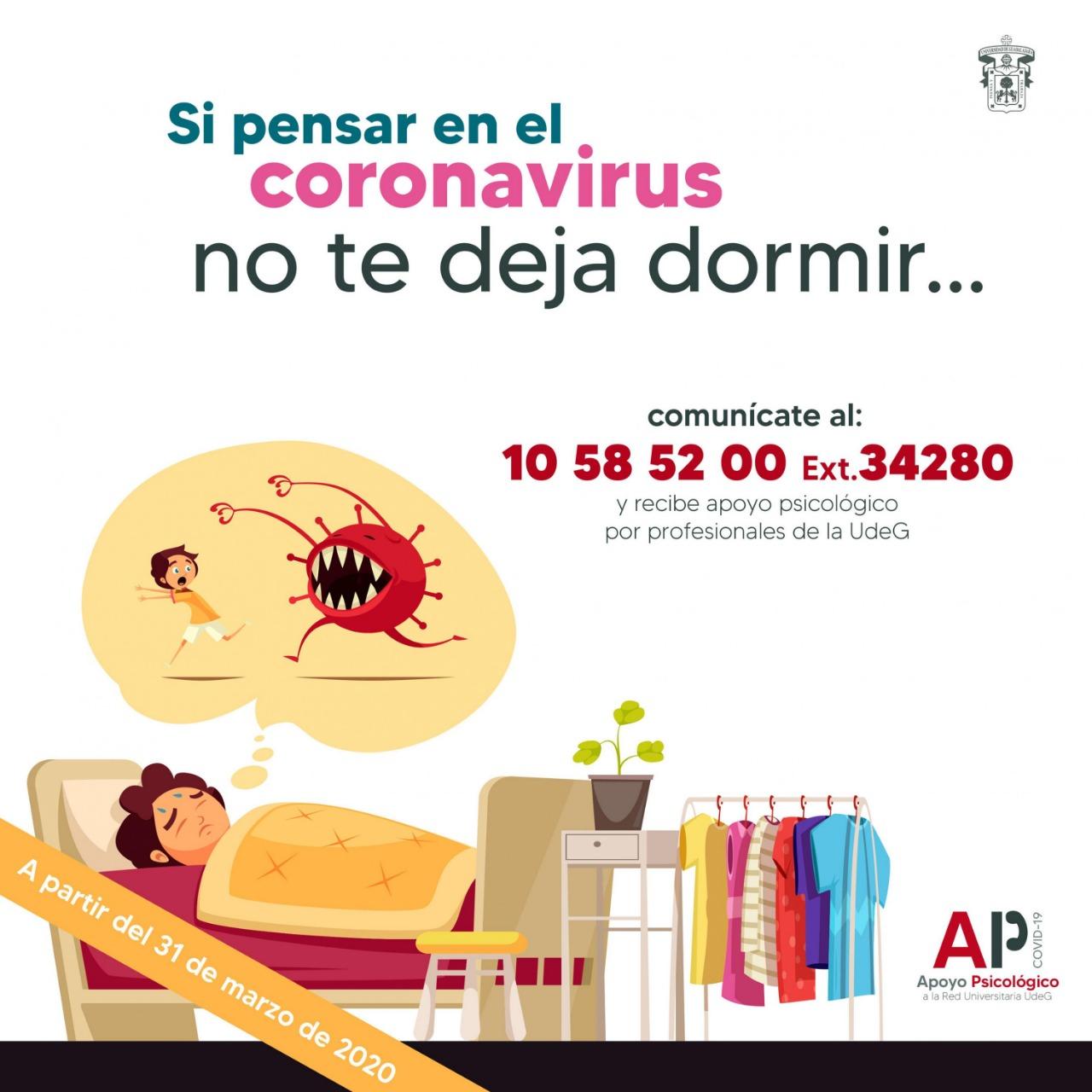 Banner promocional del Servicio de Apoyo Psicológico problemas de sueño