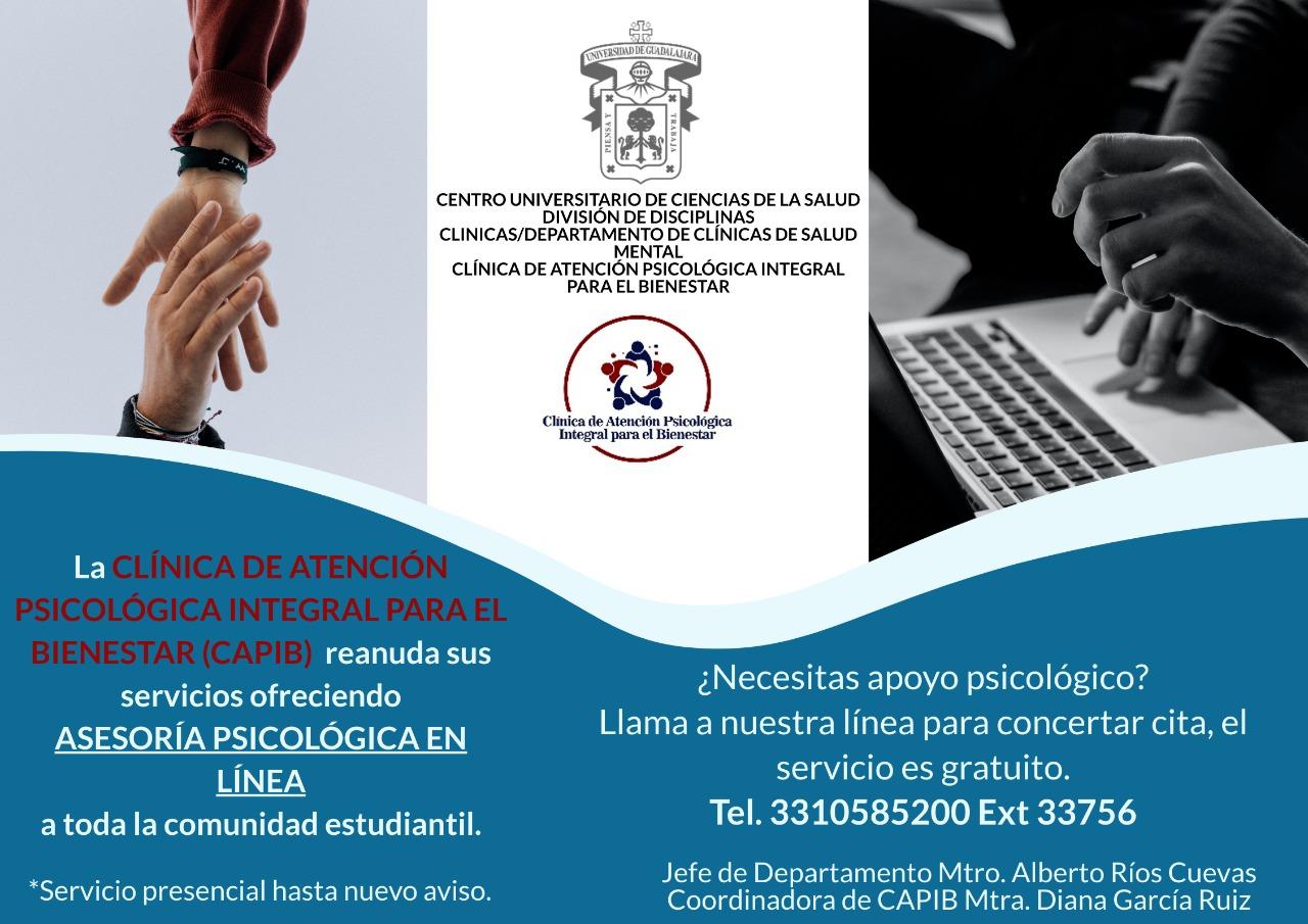 Banner promocional del servicio de atención psicológia en línea