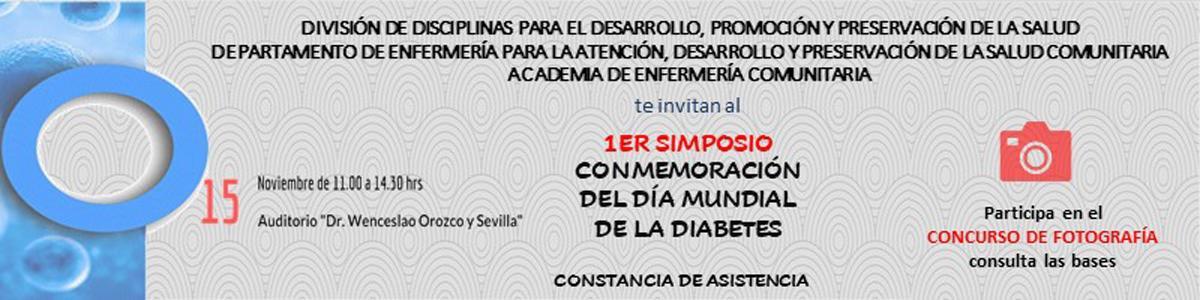 Banner promocional 1er. Simposio Día Mundial de la Diabetes
