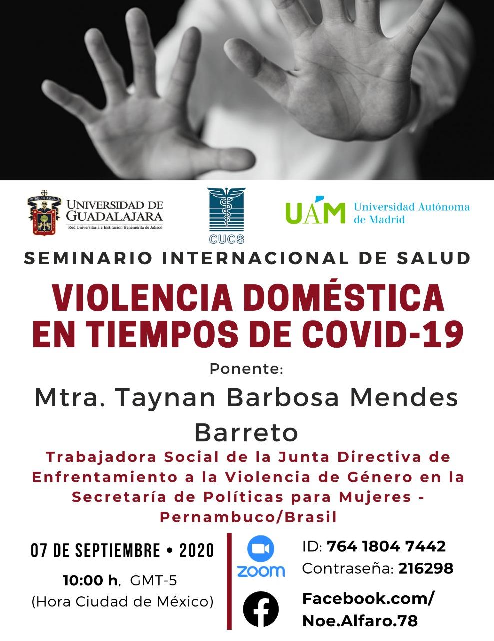 Banner promocional de la conferencia virtual