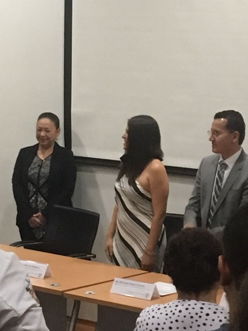 Dra Rosa Martha Meda, Dra Fabiola Macías y Dr. Eduardo Gómez