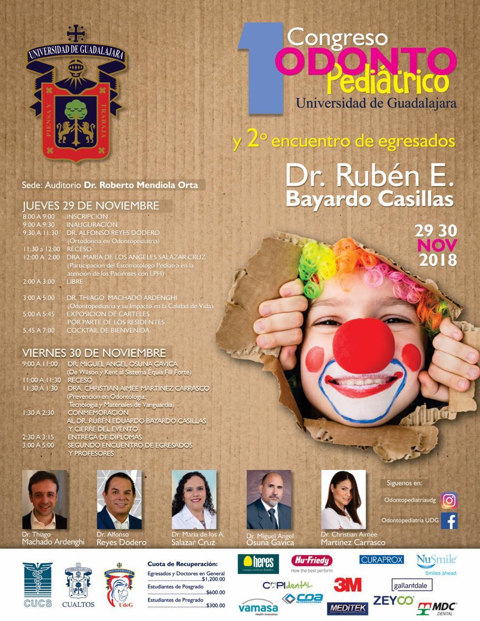 Programa del 1er. Congreso Odontopediátrico