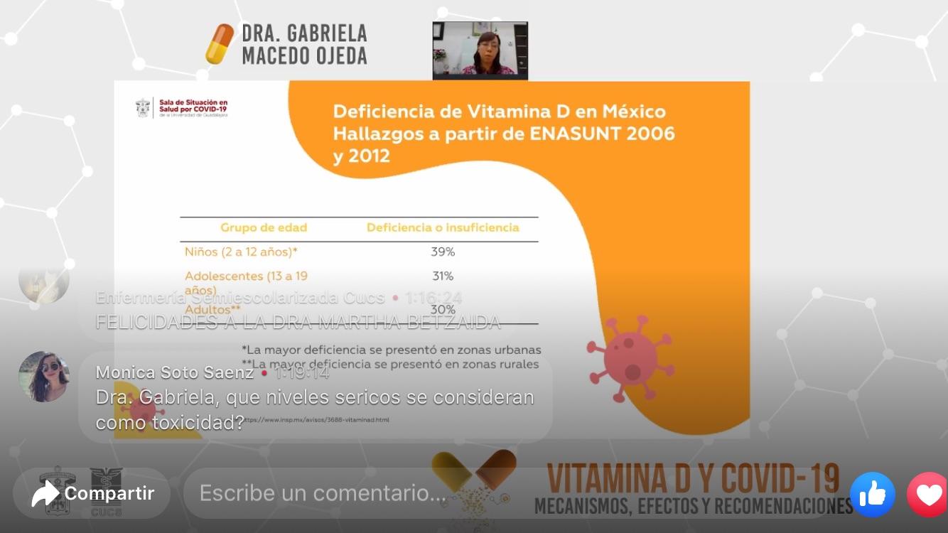 Captura de pantalla con diapositia y con la imagen de la ponente en la parte superior