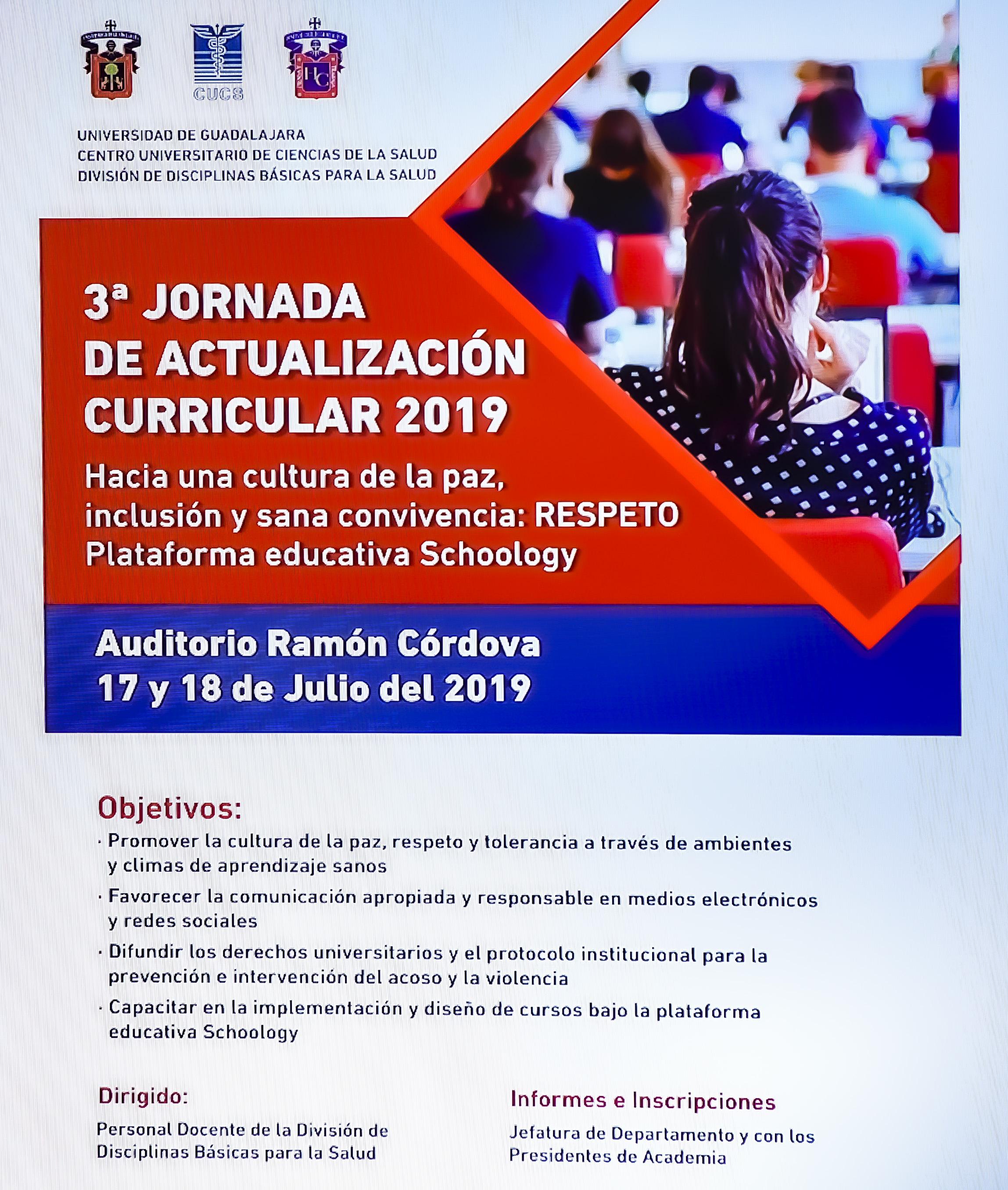 Cartel promocional de la 3a. Jornada Académica de Actualización Curricular