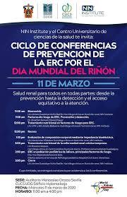 Cartel publicitario del Ciclo de Conferencias por el Día Mundial Riñón