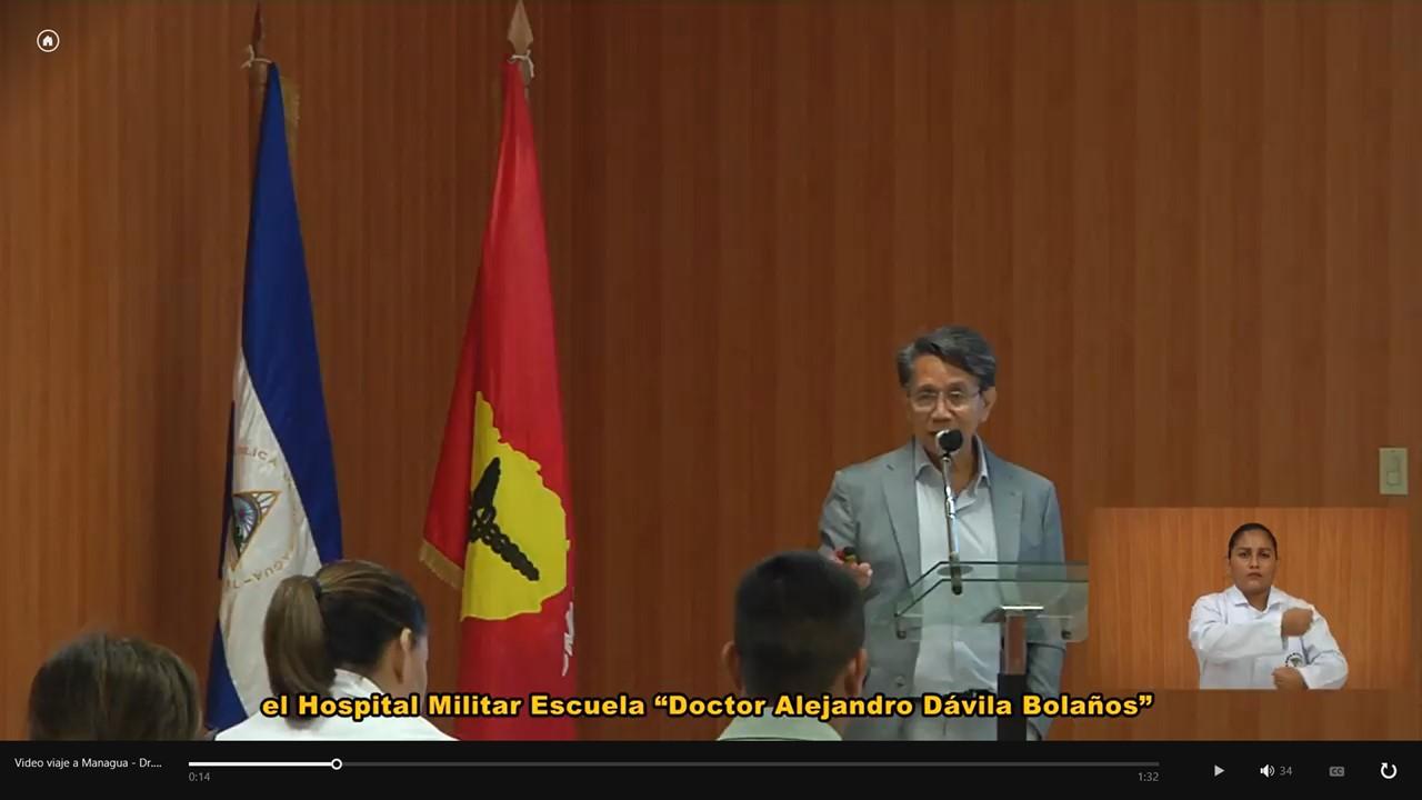 Dr. Noé Alfaro impartiendo curso