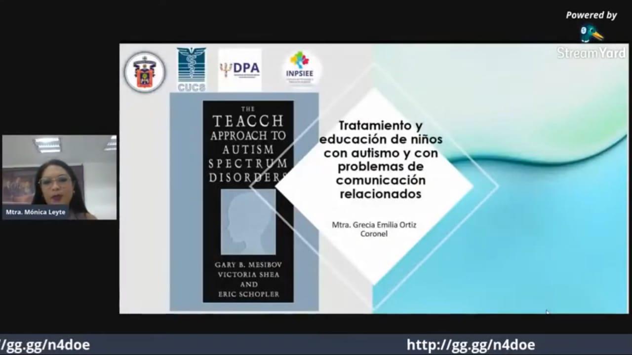 captura de pantalla de Dra. Grecia Ortiz con diapositiva