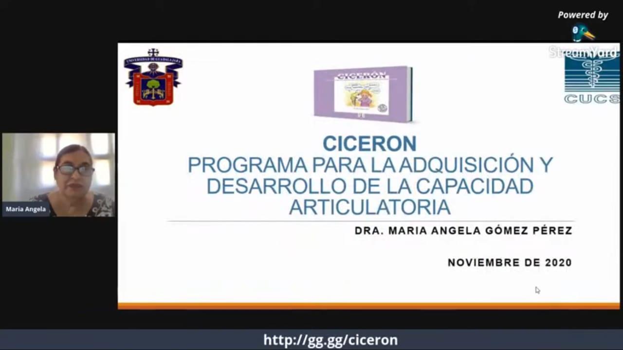 captura de pantalla de Dra. Angela Gómez con diapositiva