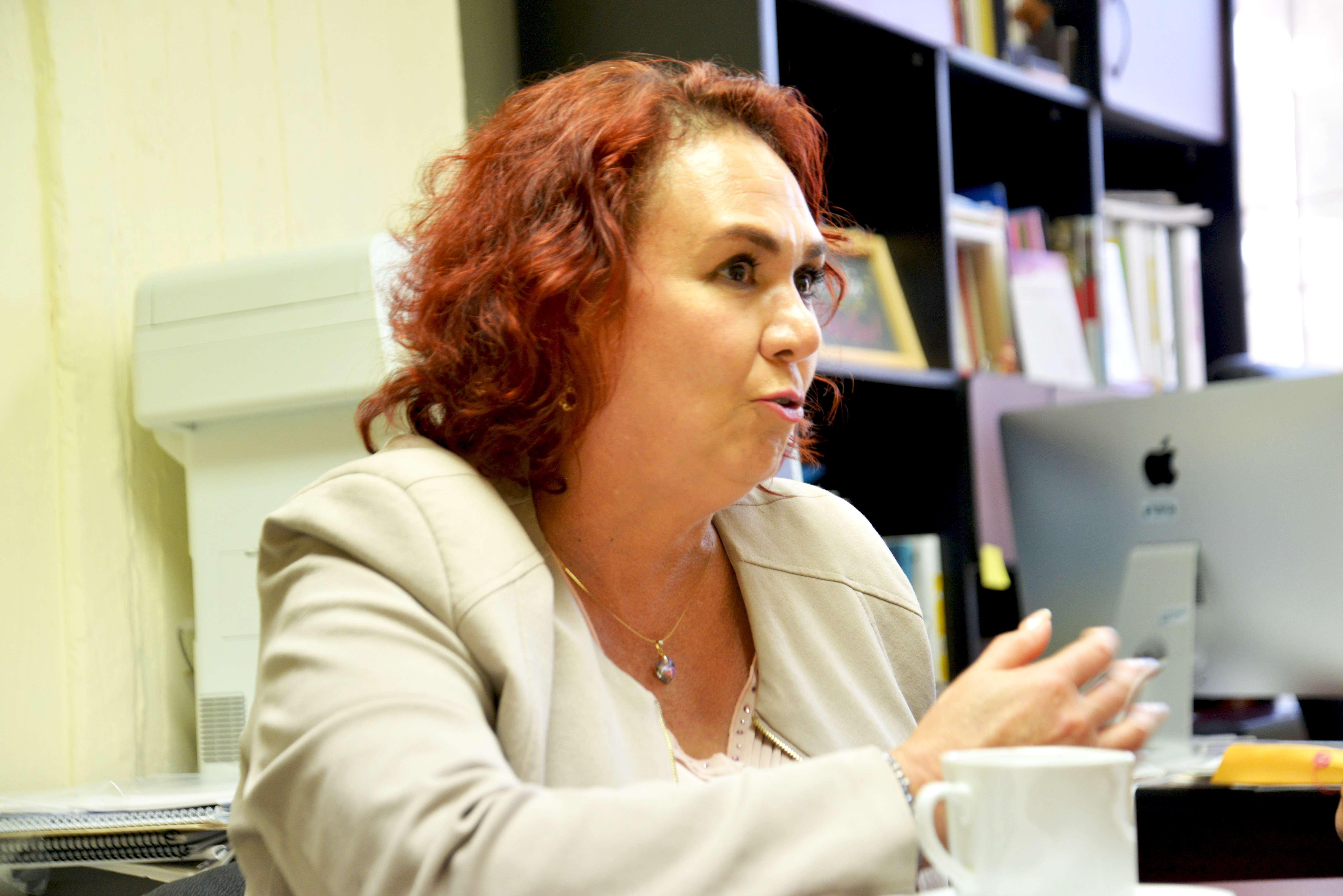 Mtra. Fabiola de Santos en entrevista