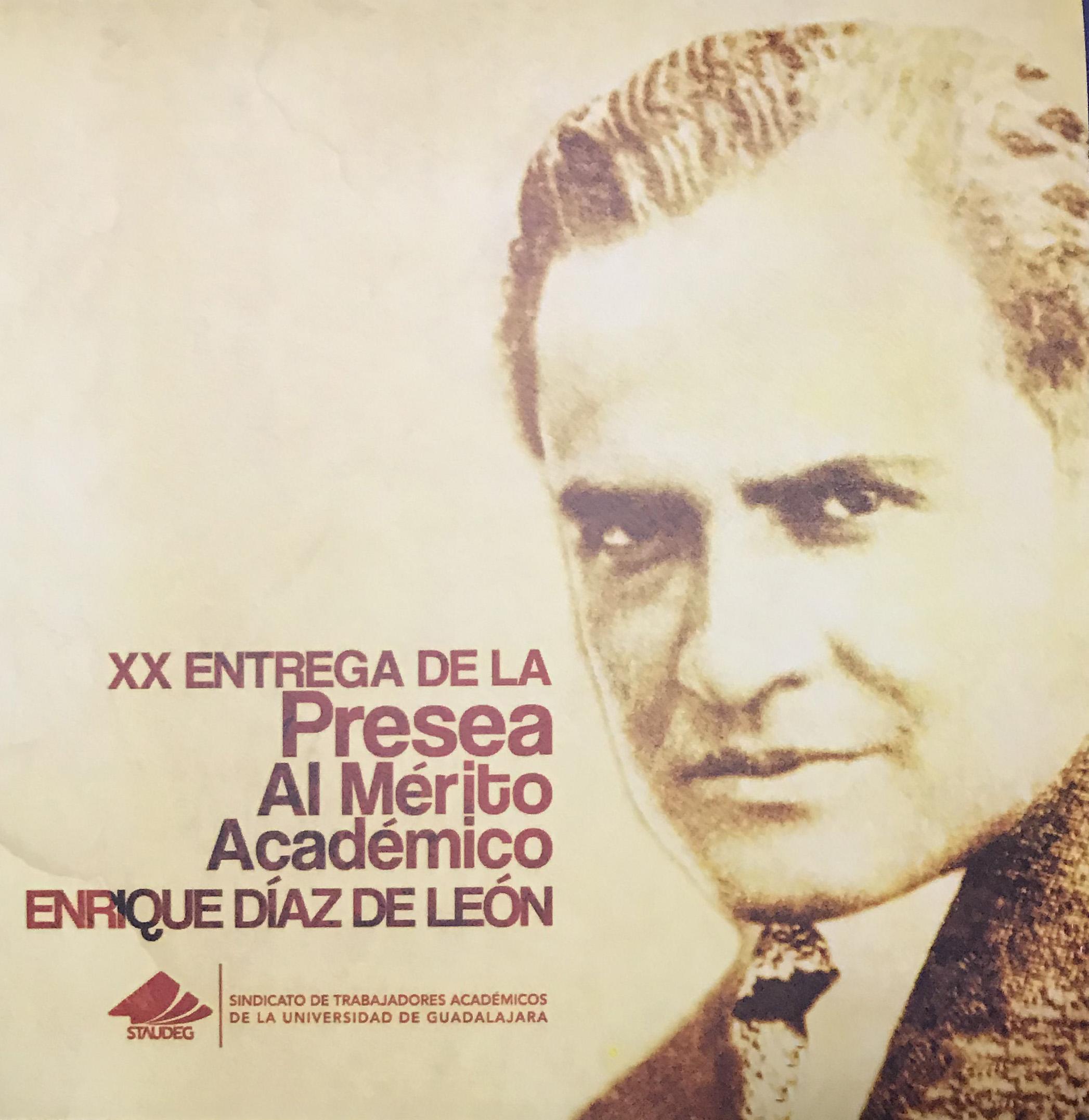 Cartel promocional de la XX Entrega de la Presea al Mérito Académico
