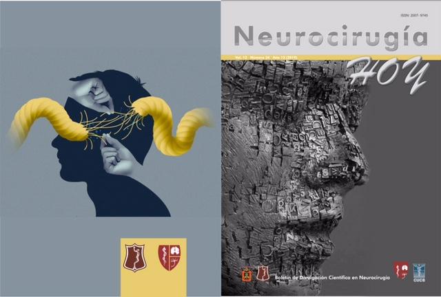 Portada y contraportada de la revista Neurocirugía Hoy