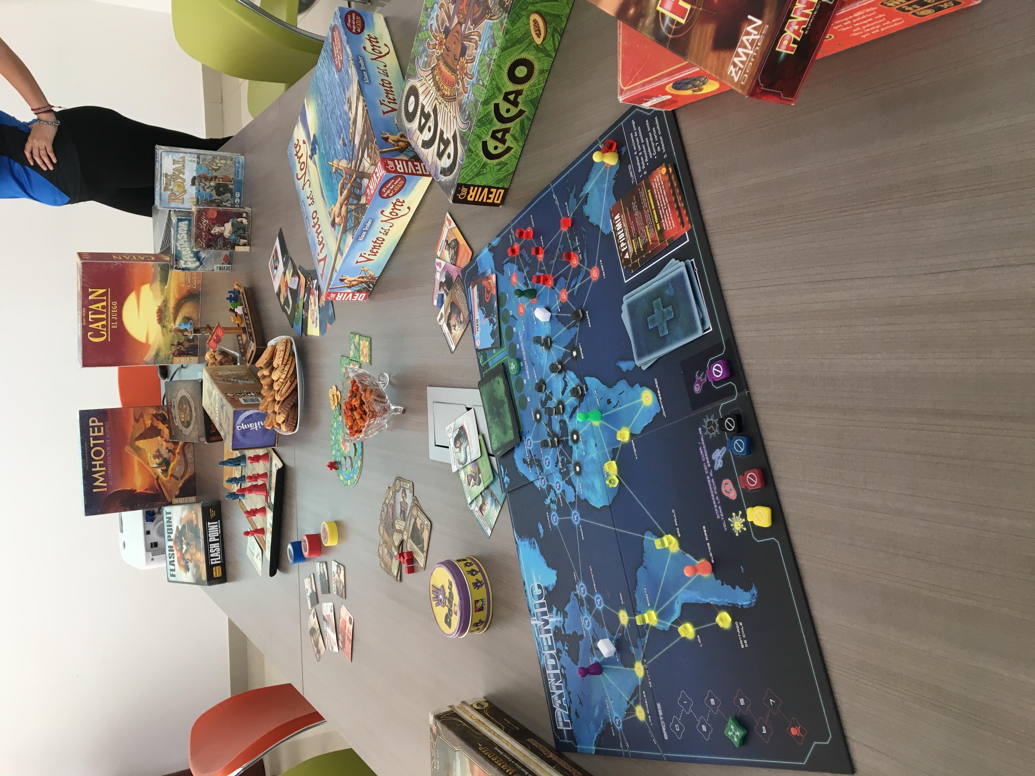 Exhibición de juegos de mesa