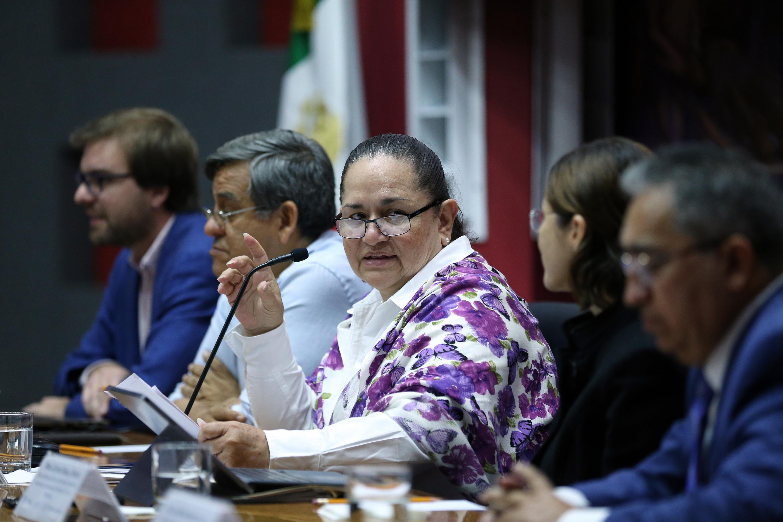 Coordinadora General Administrativa, Dra. Sonia Reynaga Obregón en el presídium