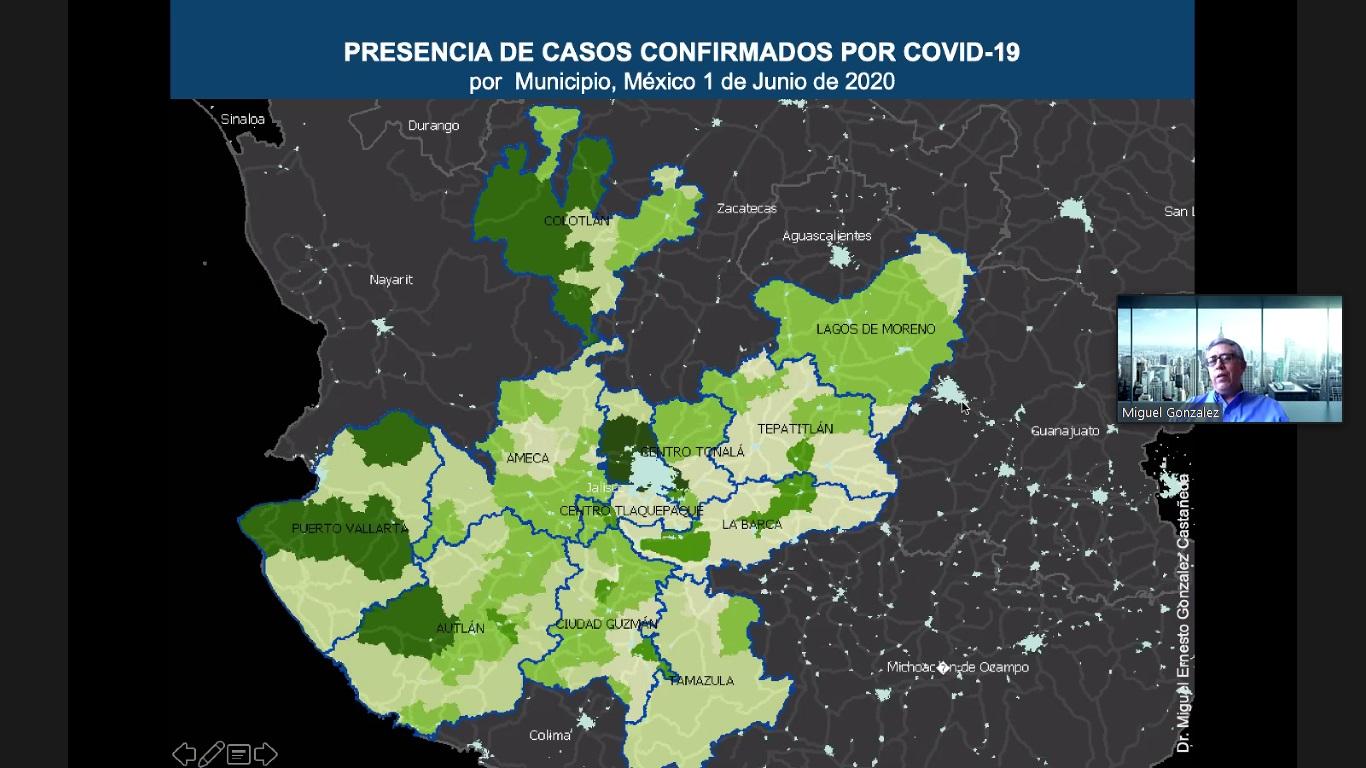 Mapa 2: Presencia de casos confirmados por COVID-19 por Municipio