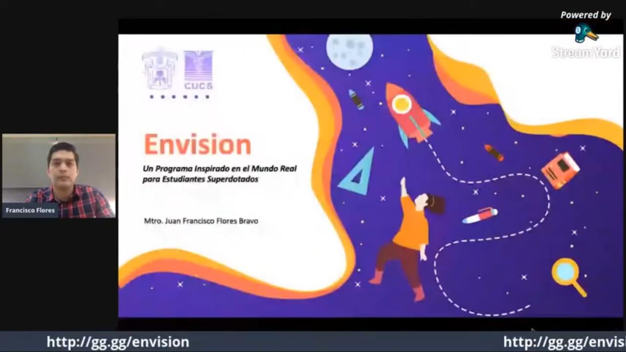 captura de pantalla de Mtro. Francisco Flores con diapositiva