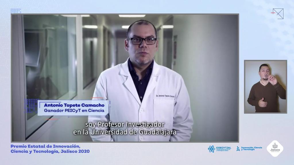 Investigador de CUCS en video de exposición de su trabajo ganador
