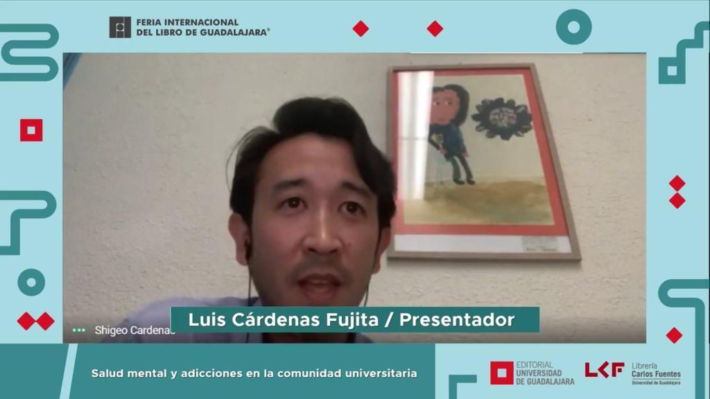 Captura de pantalla del Dr. Luis Shigueo Cárdenas Fujita en la presentación del libro