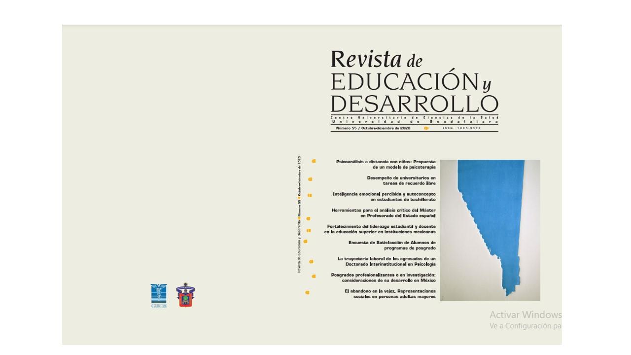 Portada digital de la Revista Educación y Desarrollo No. 55