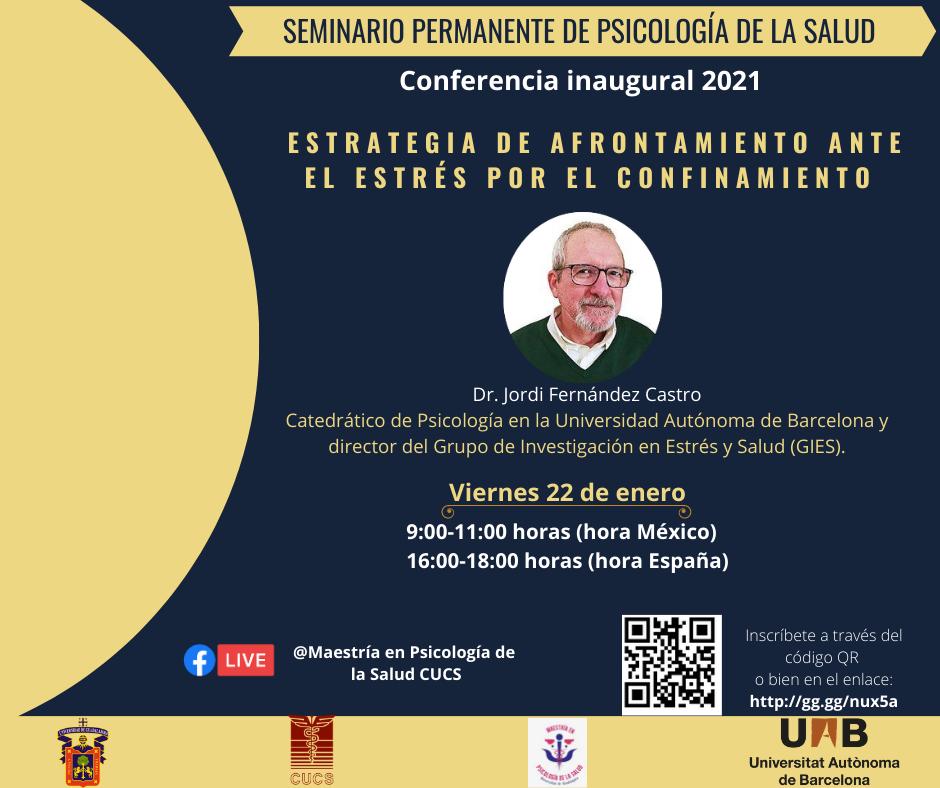 Banner promocional del Seminario con fotografia del conferencista magistral