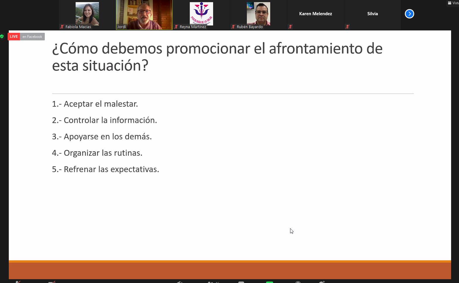 Diapositiva de apoyo de la conferencia