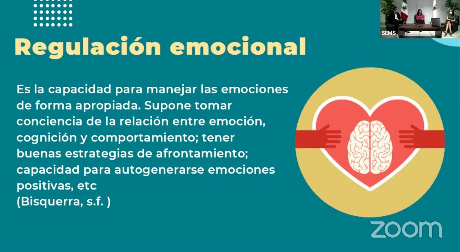 Diapositiva sobre Regulación Emocional