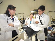 Resisdentes de pediatría. Foto de Archivo