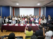 Foto grupal Premio Estatal de Psicología 2019 en Congreso del Estado