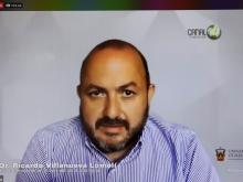 Fotogrfía del rector general en rueda de prensa virtual