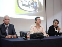 Integrantes mesa del presídium Conferencia Evaluación Programas contra Accidentes
