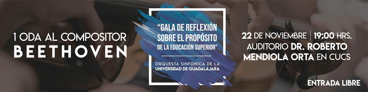 Gala de reflexión sobre el propósito de la educación superior, Orquesta Sinfónica de la Universidad de Guadalajara