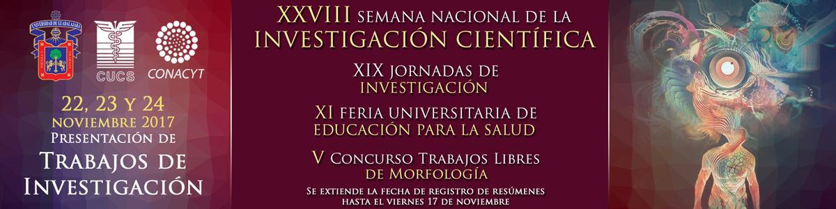 XXVIII Semana Nacional de la Investigación Científica